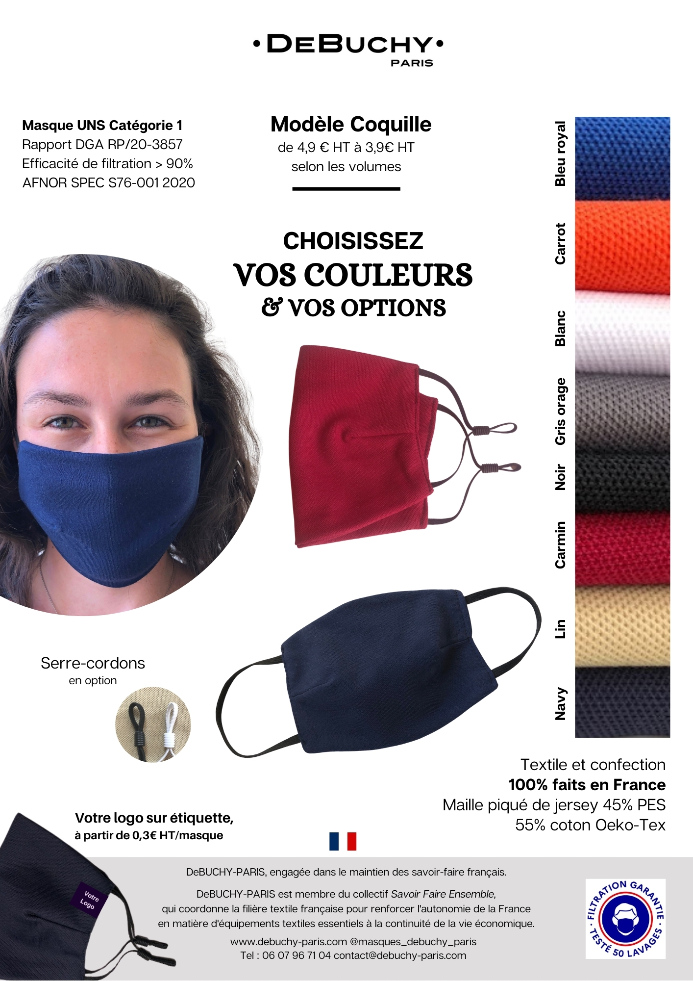 Masque Coquille DeBUCHY
