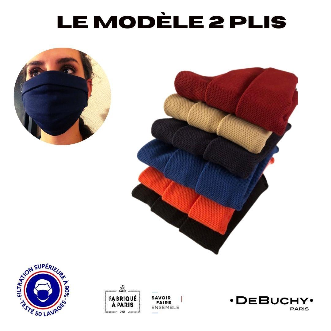 2 plis - DeBUCHY-filtration sup 90% - 50 lavages