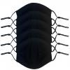 Lot 5 Masques Coquille Noir