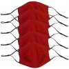 Lot 5 Masques Coquille Rouge