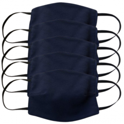 Lot 5 Masques Coquille Navy